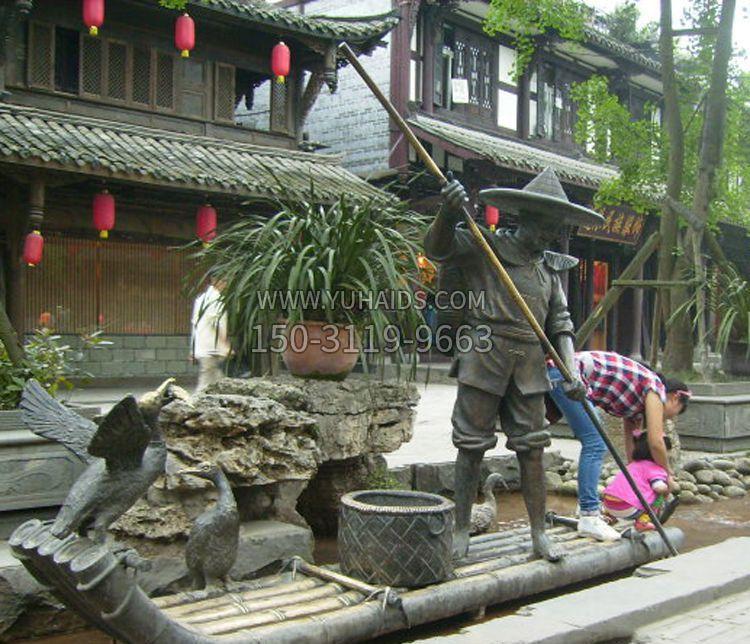 铜雕寺庙景观香炉