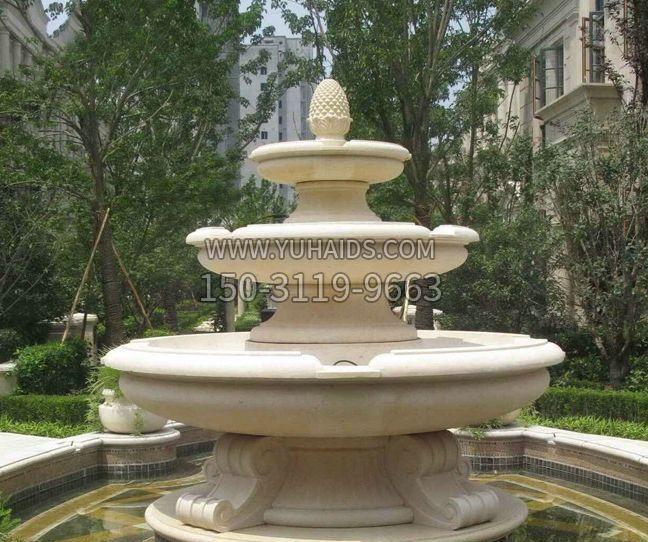 小区景观鲤鱼喷泉石雕
