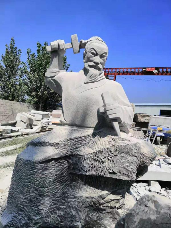 鲁班雕像整体效果