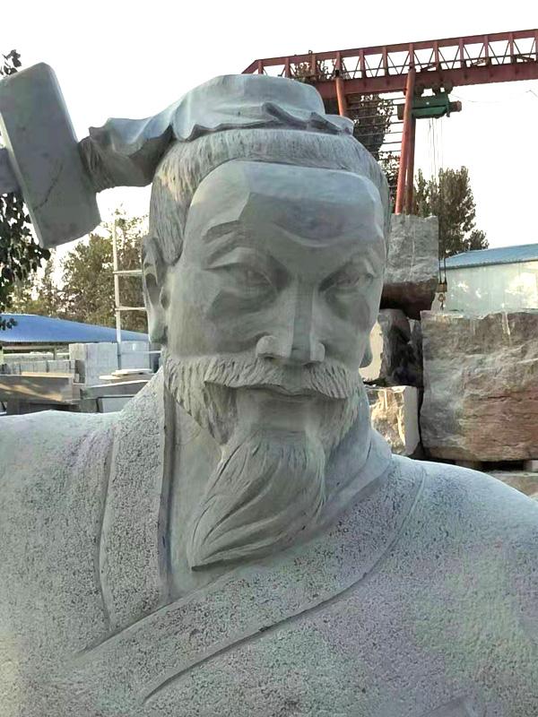 鲁班雕像近视效果