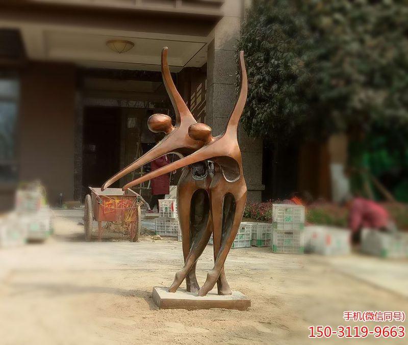 双人舞抽象仿铜人物