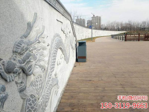 淄博市湿地公园浮雕墙一角