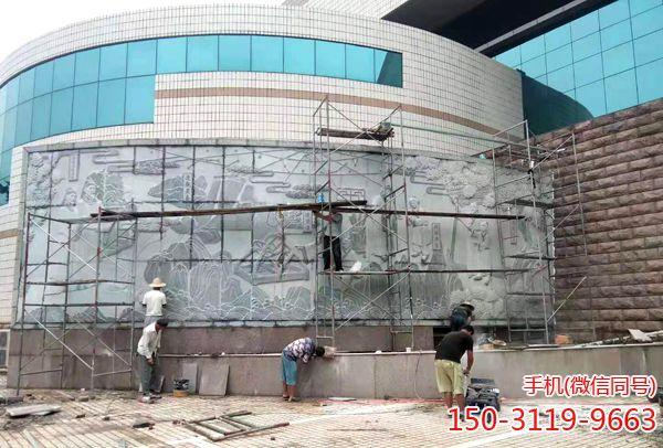 邢台职业技术学院图书馆外墙浮雕项目-收尾