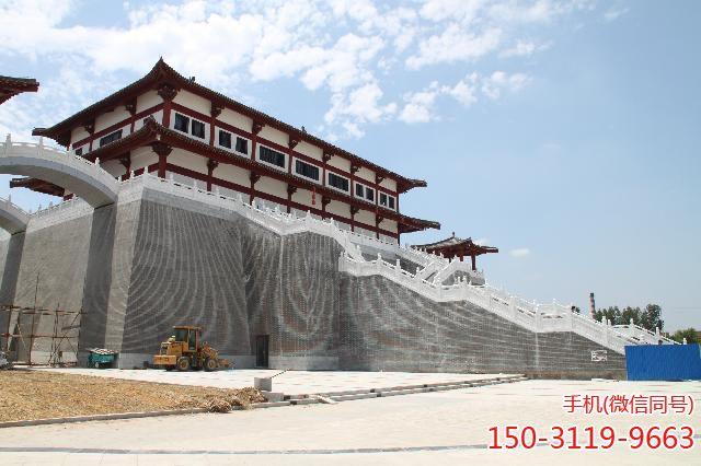武城弦歌湖公园-汉白玉栏杆扶手应用案例