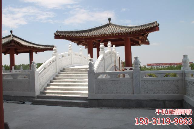 武城弦歌湖公园-汉白玉石雕拱桥