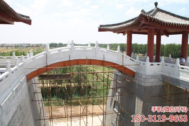 武城弦歌湖公园-汉白玉石拱桥