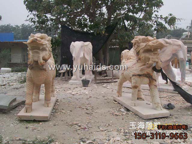站立的狮子 带翅膀的飞狮子