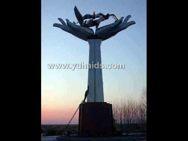 大型不锈钢景观雕塑