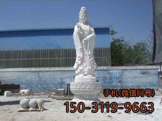 汉白玉观音雕塑
