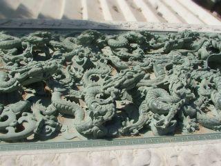 大型青石浮雕龙