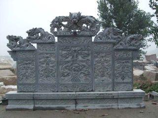青石浮雕龙壁